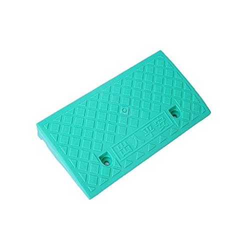 Gekleurde kunststof anti-slip mat, Outdoor draagbare Uphill Pad Motorfiets SUV hellingspad, Service Ramps voor Parkeren Veel 7-13,5 CM 49 * 27 * 7CM Groen