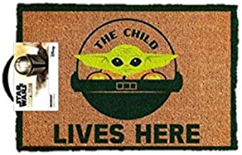 Star Wars The Mandalorian Child Lives Here Welcome Man Cave Door Mat