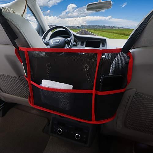 Meowtutu Kofferraum Organizer Auto, Kofferraum Netztasche Car Mesh Organizer Sitzlehne Net Bag für Handtasche Bag, Handtaschenhalter