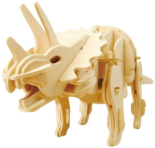 3D wooden puzzle kit moving D430 Triceratops (japan import)