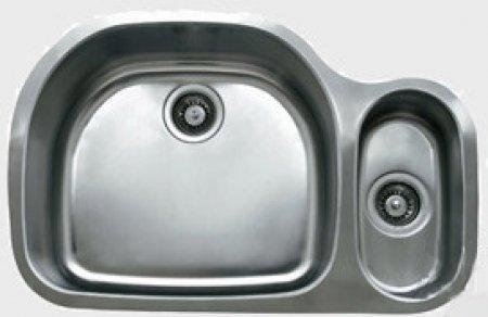 Ukinox Stainless Steel Undermount Double Bowl Kitchen Sink D53770308L