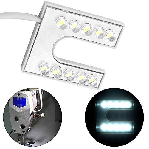 Boquite - Juego de iluminación LED para máquina de coser, 10 lámparas LED, con base magnética para todas las máquinas de coser