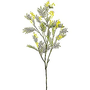 45″ Silk Mimosa Flower Stem -Yellow (Pack of 12)