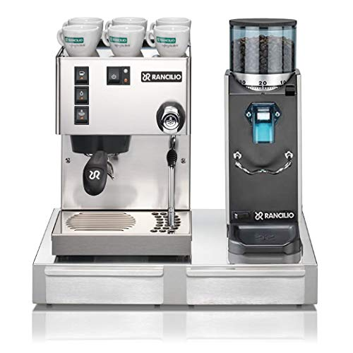 Rancilio Silvia M V6 and Rocky Bar Combo (Silver, Doserless with Base)