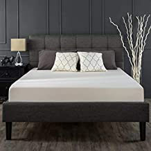 Zinus Classic Upholstered Geometric Square Stitched Headboard Fabric Queen Bed Frame Mattress Support Foundation - Wooden ...