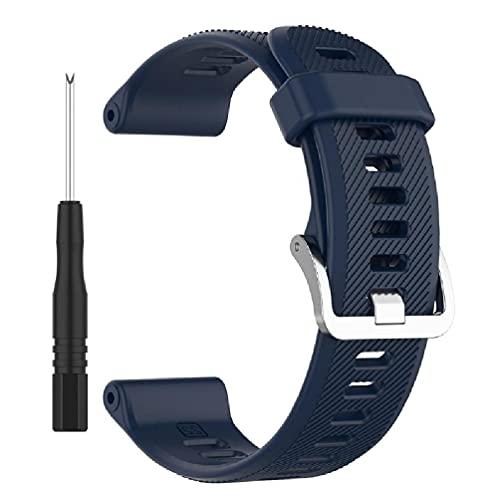 yasu7 Correa de reloj de silicona colorida para Forerunner 745 Correa antideslizante ajustable pulsera inteligente reemplazo accesorio correa de cuero reloj