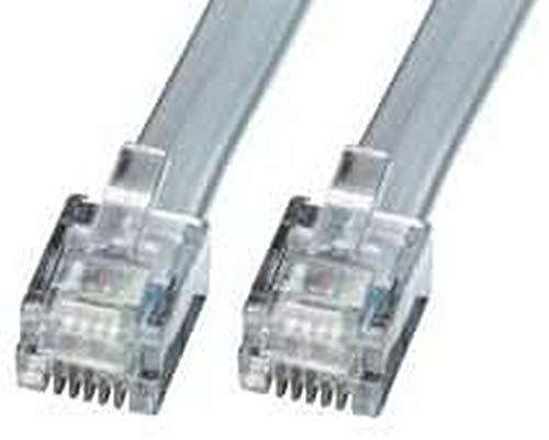LINDY RJ-12 M/M 50.0m Cable telefónico 50 m Gris - Cable para teléfonos fijos (50 m, RJ-12, RJ-12, Gris, Male Connector/Male Connector)