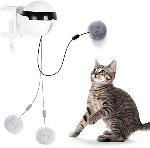 MoreJoy Giocattolo interattivo per gatti, sollevamento automatico, giocattolo con piume, giocattolo elettrico per animali domestici, per sollevamento e svolazzamento, per gatti