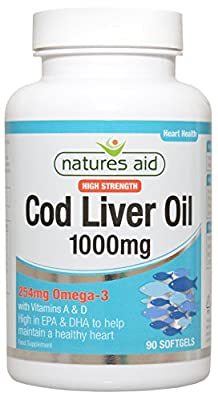 Natures Aid 1000mg High Strength Cod Liver Oil - 90 Capsules (PACK OF 1)