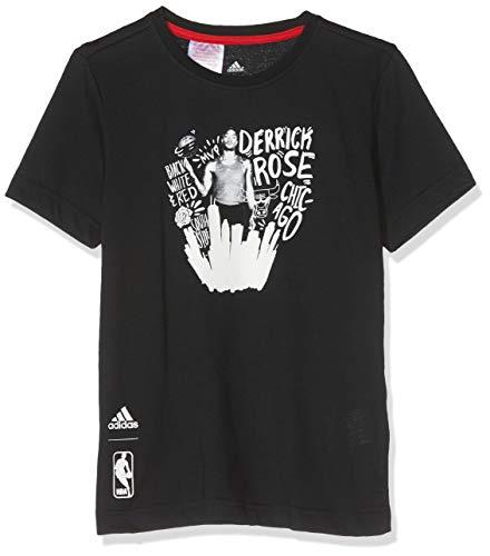 adidas para niños Reproductor Camiseta para Hombre Negro, Blanco Talla:128
