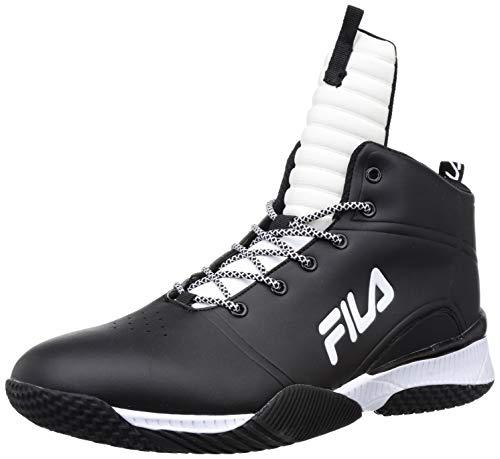 Fila Men's Baller Mid Blk/Wht Basketball Shoes-9 UK (43 EU) (10 US) (11007497)