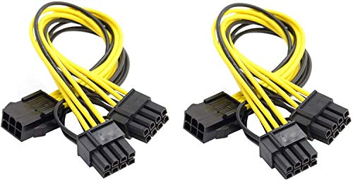Baolongking PCI-E 6 Pin a doppio 8 (6+2) Pin Splitter di Alimentazione Scheda Video Cavo di Alimentazione Splitter (2 pezzi)