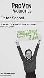 Specially formulated for children aged between 4 and 16 years 12.5 billion Lab4 friendly bacteria per tablet plus vitamin C 30 chewable tablets Suitable for Vegetarians and Vegans Shown to reduce absenteeism from school by 30 percent