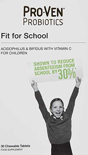 Proven Probiotics Fit for School Chewable Tablets – Pack of 30
