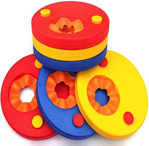 HYGRAD 6 Pcs Swim Discs Learn to Swim EVA Foam Arm Bands Float For Swimming Baby Kids Children Eco Friendly Up To 12 years Unisex