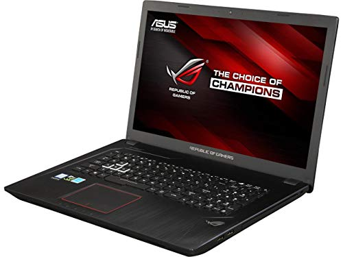 ASUS ROG GL753VE Gaming Laptop 17.3in FHD (1920 x 1080) Glossy Display Intel 7th Gen i7-7700HQ 16GB RAM 1TB HDD + 128GB SSD 4GB NVIDIA GeForce GTX 1050Ti Graphics Metalic Black (Renewed)