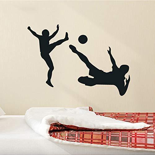 YiYEBAOFU muursticker voor kinderkamer, bos, voetbal, muurstickers, PVC, muurmateriaal, woonkamer, bank, decoratie achteraan