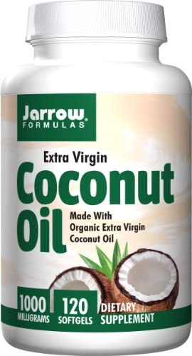 Jarrow Formulas Coconut Oil 100 Certified Organic 1000 mg 120 Softgels Pack of 2 product image