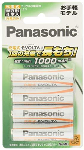 パナソニック 充電式エボルタ単3形4本パック(お手軽モデル)
