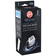Hoover Platinum Collection Canister Vacuum Cleaner Type I HEPA Bag (2-Pack), 2 Count, AH10005