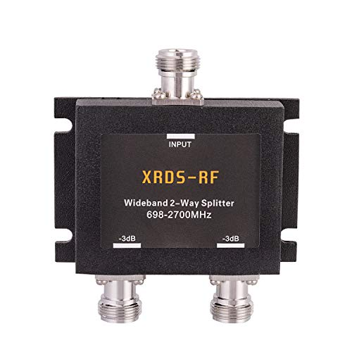 Wide-Band 2 Way Splitter-3dB N Type Female-50 Ohm by XRDS-RF (NOT for TV)