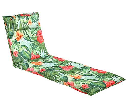 Dehner Liegenauflage Varadero, ca. 190 x 60 x 8 cm, Polyester, grün/rot