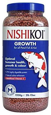 Nishikoi Growth Complete Food for Koi and Pond Fish - Medium Pellets - 1250g