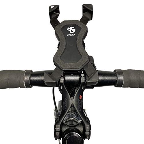 NC-17 Connect 3D Universal 1/Smartphone och mobiltelefonhållare för cykel, cykel, motorcykel/mobiltelefonhållare för iPhone, Galaxy navigering/hållare för mobiltelefon/CenterMount/svart, One Size