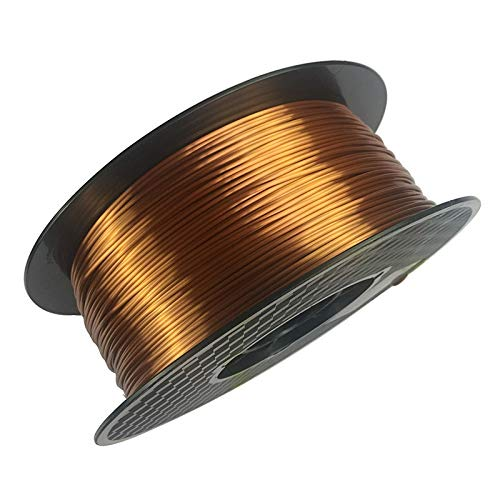without KF-3D, 3d printer silky copper pla filament silk copper 1.75mm 1KG 3D printing material silk like feel PLA Metal like red copper (Color : Silk copper)