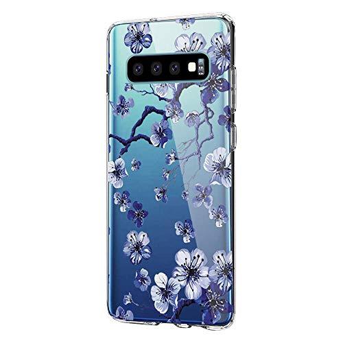 Kompatibel mit Samsung Galaxy S10 Plus Hülle,Galaxy S10 Plus Handyhülle Transparent Silikon Painted Muster Weich Silikon Ultra Dünn, Kratzfest und Wasserdicht SchutzHülle für Galaxy S10 Plus (8)