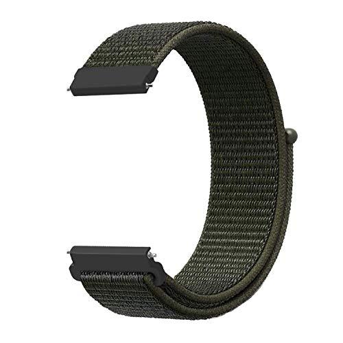 AIGENIU 時計バンド 柔らかく ナイロン ループ バンド 取付幅22mmのスマートウォッチと伝統的な腕時計交換用バンド (22mm, カーゴカーキ)