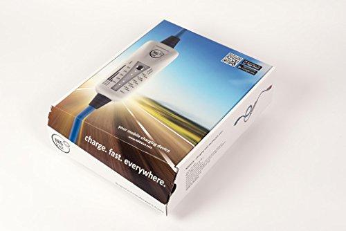 11KW, Typ 2 - LIGHT mobiles Ladestation für Elektroauto, Ladeneinheit 16A, Notladekabel mit integrierter Wallbox, 3-Phasenladung Proteus-NRGkick 16A – FI Schutzmechanismus Typ B Charakteristik - 3