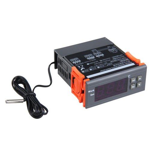 Termostato digitale termometro controller W/display LCD ampio e chiaro/temperatura calibrazione e ritardo della funzione -- dotato di sensore di temperatura sonda