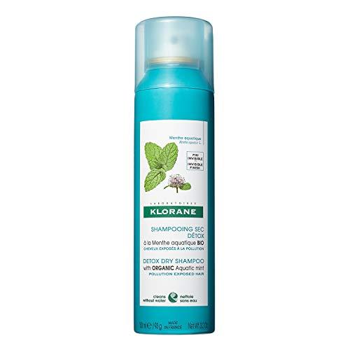 Klorane Detox Dry Shampoo with Aquatic Mint, All...