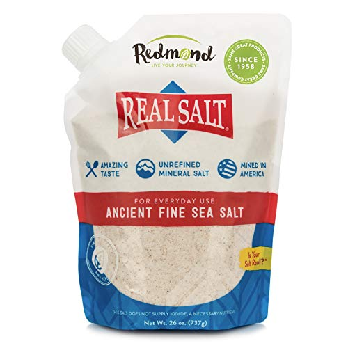 REDMOND Real Sea Salt - Natural Unrefined Organic Gluten...