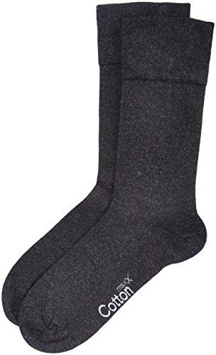 Nur Der Herren Cotton maxx Komfort Socken, Grau (anthrazitmelange), 43/46 (43-46)