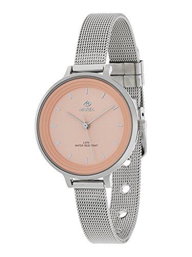 Reloj Marea Mujer B41198/9 Analógico Correa armis acero tipo malla milanesa Esfera salmón