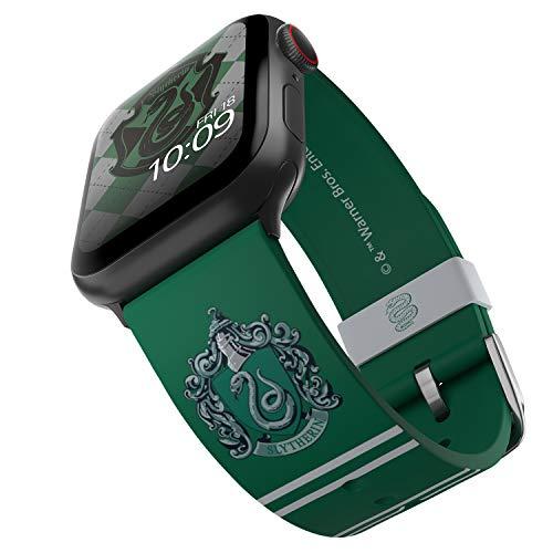 Harry Potter – Slytherin Edition – Cinturino in silicone con licenza ufficiale compatibile con Apple Watch, adatto a 38 mm, 40 mm, 42 mm e 44 mm