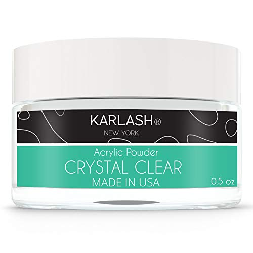 Karlash Professional Acrylic Powder 0.5 oz (Crystal Clear 0.5 oz)