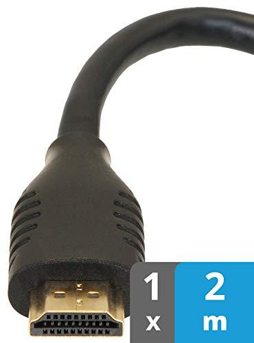 valonic Cable HDMI   2m   4k   ARC   UHD   Full HD   Ethernet   Negro   Compatible con TV, PS4, Nintendo Wii, Xbox   2 Metros   Macho Macho