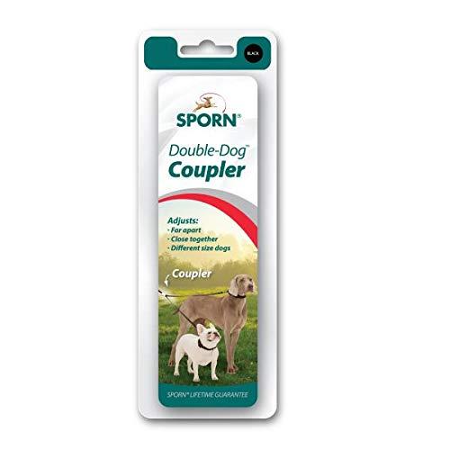 Sporn Double Dog Coupler, Black, Medium/Large