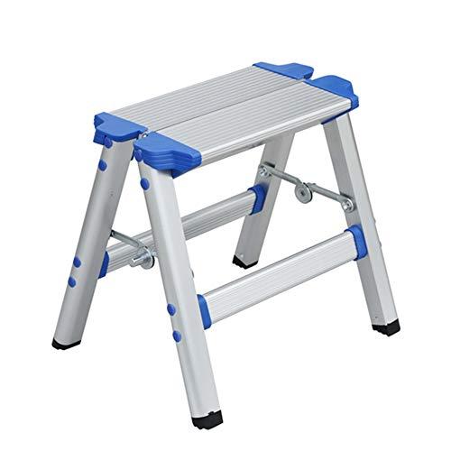 HAIPENG Escalera Plegable Taburete Aleación De Aluminio 2 Pasos Uso Dual Plegable Portátil Casa Al Aire Libre, 27x37.5x30cm