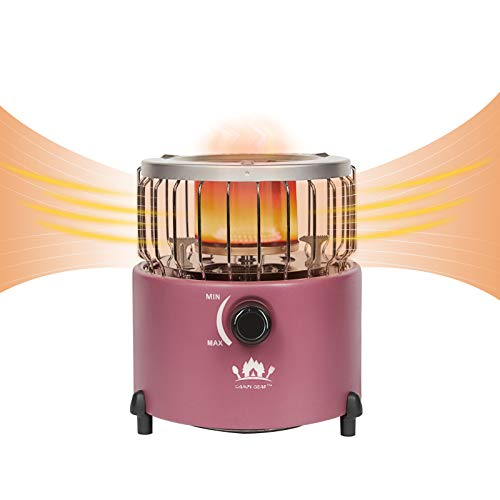 Campy Gear 2 in 1 Portable Propane Heater & Stove, Outdoor Camping Gas Stove Camp Garage Tent Heater for Ice Fishing Backpacking Hiking Hunting Survival Emergency (Purple, CG-2000G)
