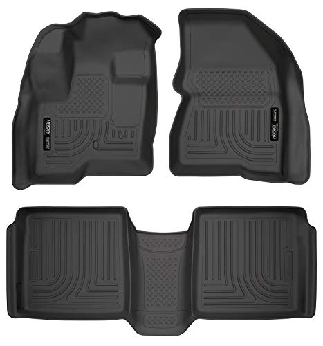 Husky Liners 98741 Fits 2009-20 Ford Flex, 2010-20 Lincoln MKT Weatherbeater Front & 2nd Seat Floor Mats , Black