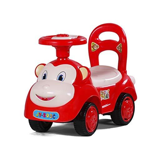 Kids Car Rutschauto Kinder Twist Auto Mit Musik Baby Roller Walker Vierrad Yo Auto 1-3 Jahre Alt Baby Spielzeugauto Xuan - Worth Having (Color : Red)