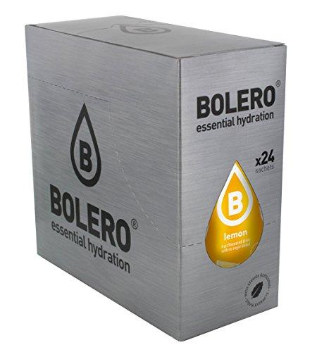 Bolero Bebida Instantánea sin Azúcar, Sabor Limón - Paquete de 24 x 9 gr - Total: 216 gr