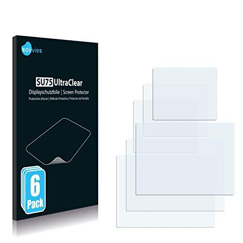 Savvies 6X Schutzfolie kompatibel mit easypix Aquapix W1400 Active (Vorder + Rückseite) Displayschutz-Folie Ultra-transparent