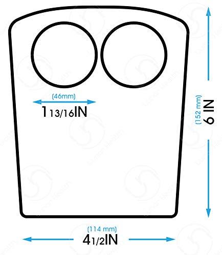 SL-B2 Ophthalmic Universal Slit Lamp Breath Shield Small Thick Acrylic 5 15/16' x 4 3/8'