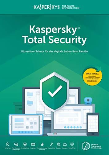 Kaspersky Total Security 2020 Standard | 3 Geräte | Jährliches Abo | Windows/Mac/Android | Abonnement mit Amazon
