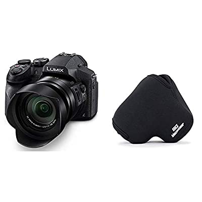 PANASONIC LUMIX FZ300 Long Zoom Digital Camera Features 12.1 Megapixel, 1/2.3-inch Sensor & Dustproof Camera Body, Leica DC 24X F2.8 Zoom Lens & MegaGear ''Ultra Light'' Neoprene Camera Case Bag